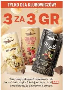 OneDayMore owsianka granola musli 6 tub + 3 kolejne 3gr