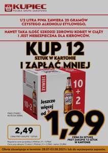 Piwo Żywiec 1,99zł przy zakupie 12 (karton)