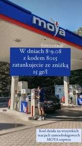 Tankuj taniej o 15gr na 1l paliwa na stacjach Moya Express