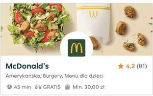 Darmowa dostawa z McD w Pyszne.pl