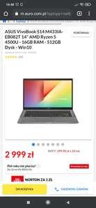 "ASUS VivoBook S14 M433IA-EB082T 14"" AMD Ryzen 5 4500U - 16GB RAM - 512GB Dysk - Win10"