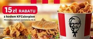 15 zł zniżki z KFC w Uber Eats