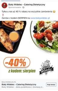 - 40% na catering dietetyczny