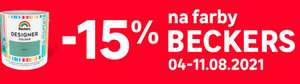 -15% na farby beckers w Leroy Merlin