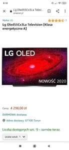 LG OLED Oled55Cx3La tv telewizor