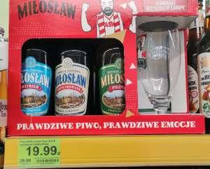 Zestaw piwa Miłosław 5x0.5 l + pokal w Dino