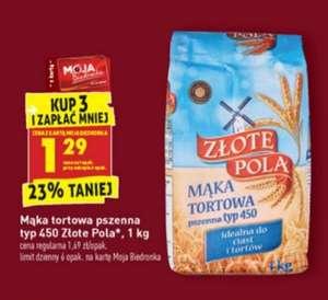 Mąka tortowa pszenna typ 450 Złote Pola 1 kg przy zakupie 3 szt. Biedronka