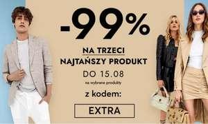 - 99% na trzeci najtańszy produkt z kodem EXTRA na modivo