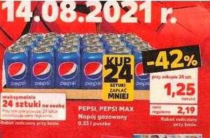 Napój Pepsi lub Pepsi Max puszka 0,33 l przy zakupie 24 szt. @Kaufland