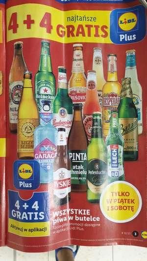 Lidl 4 piwa + 4 gratis(najtańsze w butelce) .