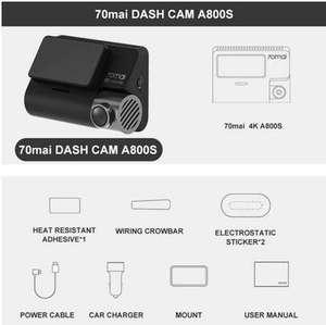 Wideorejestrator, kamerka 70mai 4K A800S, 129$