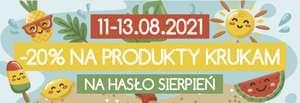 Kod rabatowy -20% na wszystkie produkty Krukam.pl