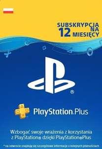 Subskrypcja PlayStation Plus 365 dni (12 miesięcy) @ Eneba