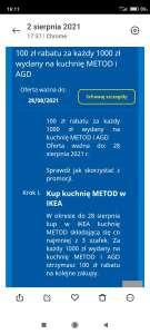 IKEA 100zł za każde wydane 1000zł na kuchnię