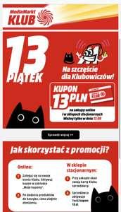 13 zł na zakupy dla klubowiczów 13.08