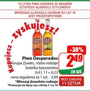 Piwo Desperados but.0,4L przy zakupie 11 szt. /Dino/