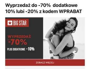 Dodatkowe 10% w Big Star