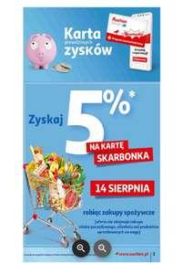 Auchan Skarbonka 5% zwrotu za zakupy spożywcze