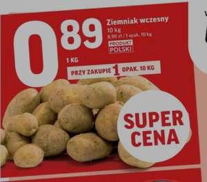Ziemniaki wcześnie przy zakupie 10kg = 0.89zl/kg @Intermarche