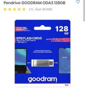 Pendrive 128GB USB 3.2 Type-A USB Type C GOODRAM ODA3