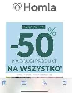 - 50% na drugi produkt w Homla