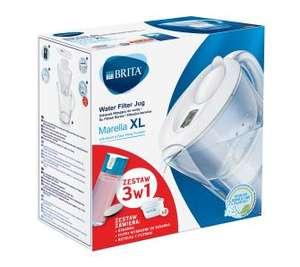 Brita Marella XL (biała) + 2 wkłady Pure + Fill & Go Vita
