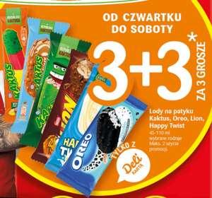 Lody 3+3 za 3 grosze Delikarta @Delikatesy Centrum