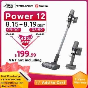 Odkurzacz pionowy Youpin Trouver Power 12 z wysyłką z Niemiec (60min na baterii, 450W) @ AliExpress