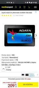 Dysk ADATA Ultimate SU800 1TB SSD
