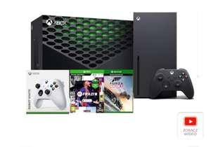 Konsola Microsoft Xbox Series X z dodatkowym padem oraz grami FIFA21 i Forza Horizon 3 @RTV Euro AGD