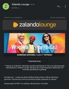 Darmowa dostawa Zalando Lounge MWZ 140zł