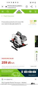 Graphite Pilarka Tarczowa + Walizka 58G488 - 3 lata gwarancji.