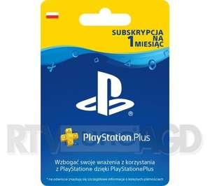 Playstation Plus 1 miesiąc PS4 PS5 za 18,50 zł w RTV Euro AGD