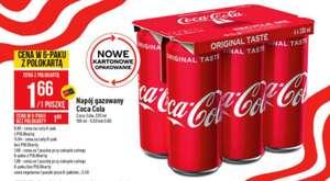 Coca Cola 330ml puszka - cena przy zakupie 6 paku @polomakret