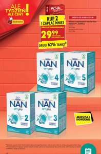 Biedronka mleko NAN 2,3,4,5 przy zakupie dwóch opak.
