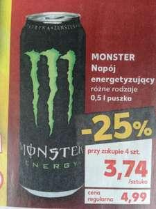 Monster Energy 500ml Kaufland różne rodzaje (przy zakupie 4szt.)