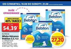 Mleko Bebilon 2,3,4,5 Lidl