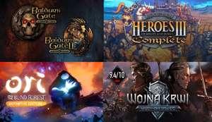 Zbiorcza okazja promocji z GOG (19.08 - 2.09) m.in. Ori, Baldur's Gate, Wiedźmin, Heroes of Might & Magic, Settlers..