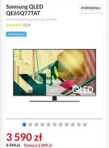 Telewizor Samsung QLED QE65Q77TAT stacjonarnie wybrane sklepy