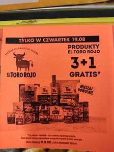 Biedronka. Produkty El Toro Rojo 3+1 gratis