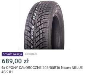 4 Opony całoroczne 205/55R16 Nexen NBLUE 4S 91H