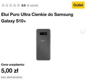 Wyprzedaż akcesoriów w Orange. Np. Etui Puro Ultra Cienkie do Samsung Galaxy S10+ za 5 zł (więcej w opisie)