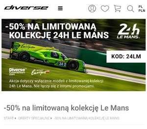 Diverse wyprzedaż 50% kolekcji 24h Le Mans
