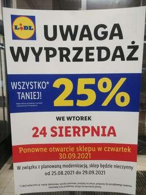 Wyprzedaż -25% Lidl Białystok ul. Pogodna