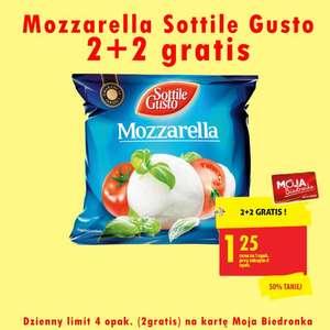Mozzarella Sottile Gusto 2+2 gratis - Biedronka