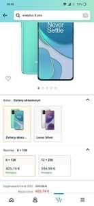 Smartfon Oneplus 8t- 419,38 euro - tylko zielony