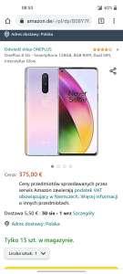 Smartfon Oneplus 8 8/128 - 375€ + 5,5€ dostawa - Amazon.de