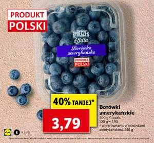 Borówki amerykańskie [Produkt Polski] 18.95zl/kg @Lidl