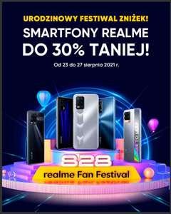 Wybrane smartfony realme taniej do 30%   realme Fan Festival   urodzinowy festiwal zniżek