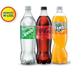 1L Napoje Zero w Lidlu - Fanta, Sprite, Coca-Cola - 3.25 / litr - Wymagana aplikacja Lidl Plus